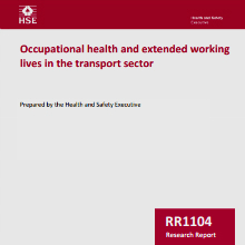 Cover of Occupational health and extended working lives in the transport sector