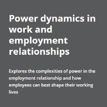 Front cover of Power dynamics in work and employment relationships