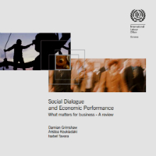 Cover of Social Dialogue and Economic Performance