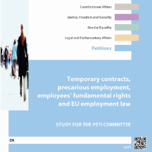 Cover of Temporary Contracts, Precarious Employment, Employees' Fundamental Rights and EU Employment Law